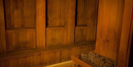 Our dry sauna pillared seating. Great for all types of discreet hide & play.