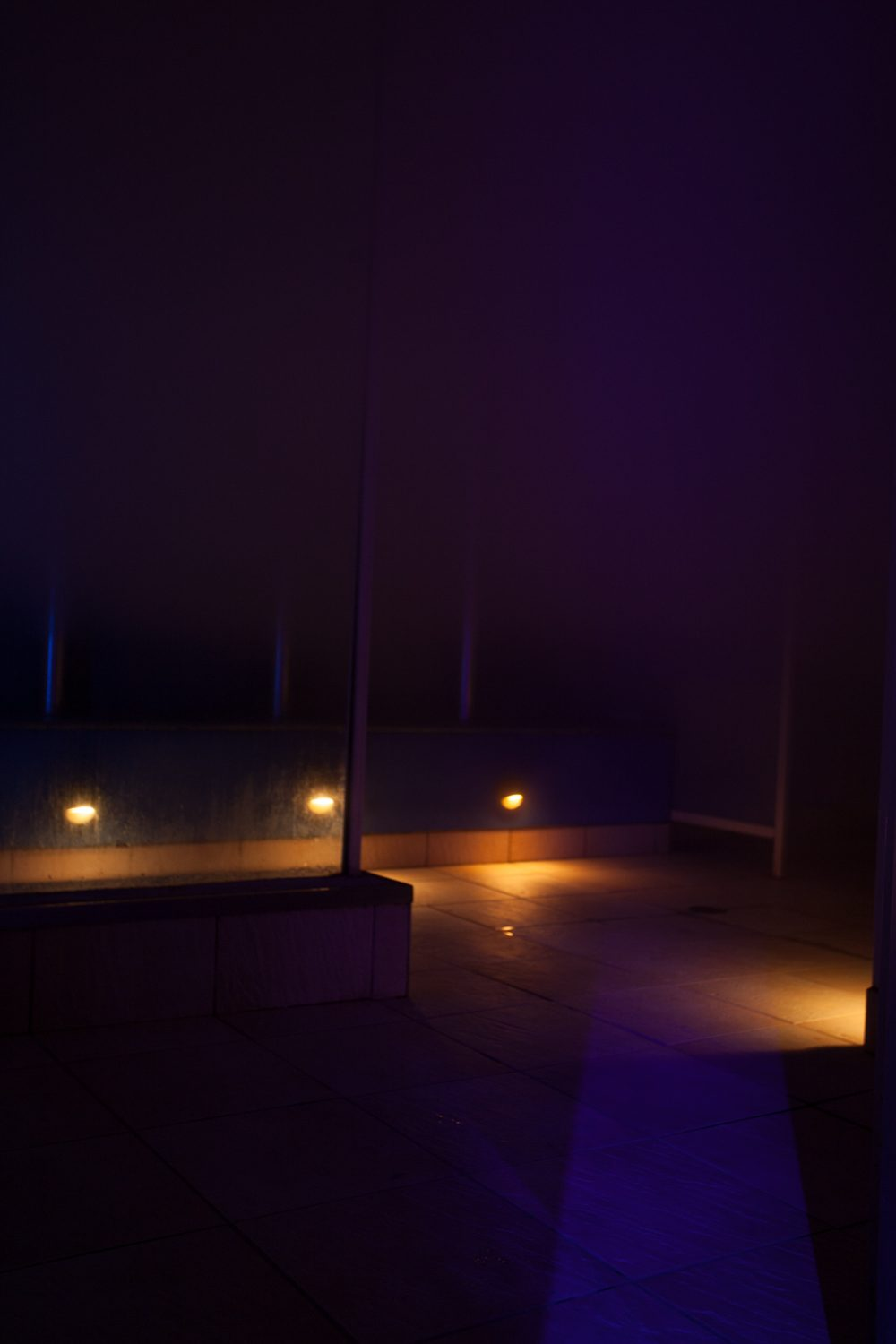 Our large steam room. With benches, vertical poles, open cubicles and heaps of steam. This room is also used for our Foam Parties.