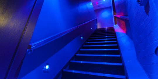 Our mood-lit stairway up to level 3