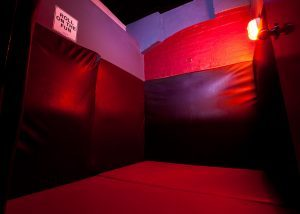 Wrestling room, padded floor and walls. This is our rough play area. With free condoms in every room so you can play safe at all times.