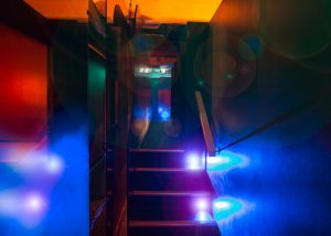 Level 3 suckatorium is very popular during our theme parties. Climb up the stairs to access the 4 glory holes or walk through the metal curtain to see who is waiting for you.