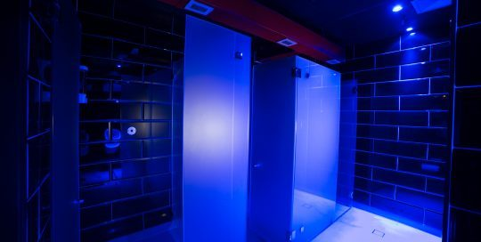 Our brand new renovated private shower cubicles and toilets. If you want privacy, you have it here. All our showers are all sensor enabled.