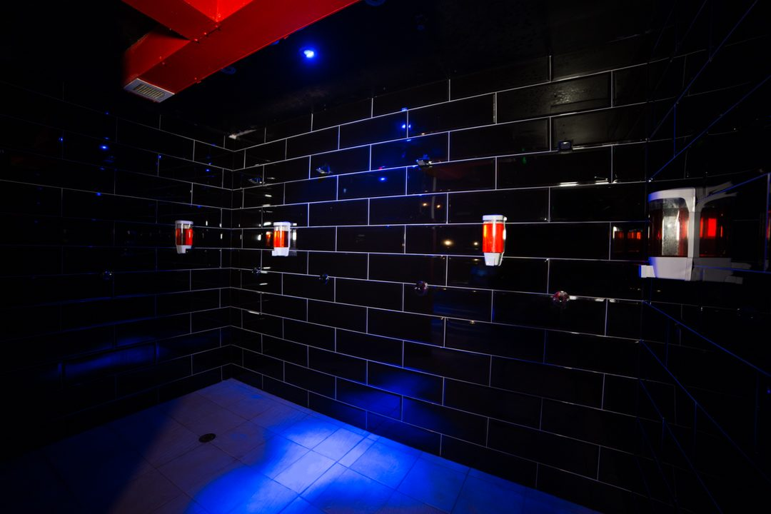 Our brand new renovated open showers. All showers have sensors.