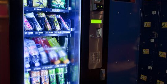 A vending machine on level one with cold drinks and snacks. Keep your fluids up and your energy up, you'll need it for the next 3 levels of fun ;)