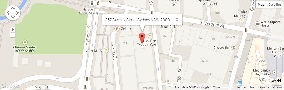 We're at 357 Sussex Street in the heart of Sydney.